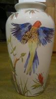 pássaros vaso